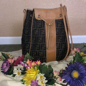 Fendi Authentic Drawstring Handbag